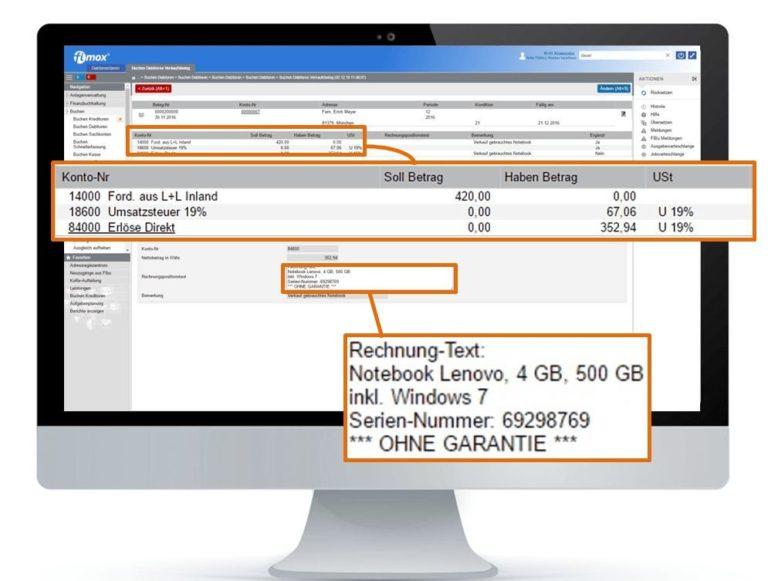 Anlagenbuchhaltung Verkauf - fimox Buchhaltungssoftware