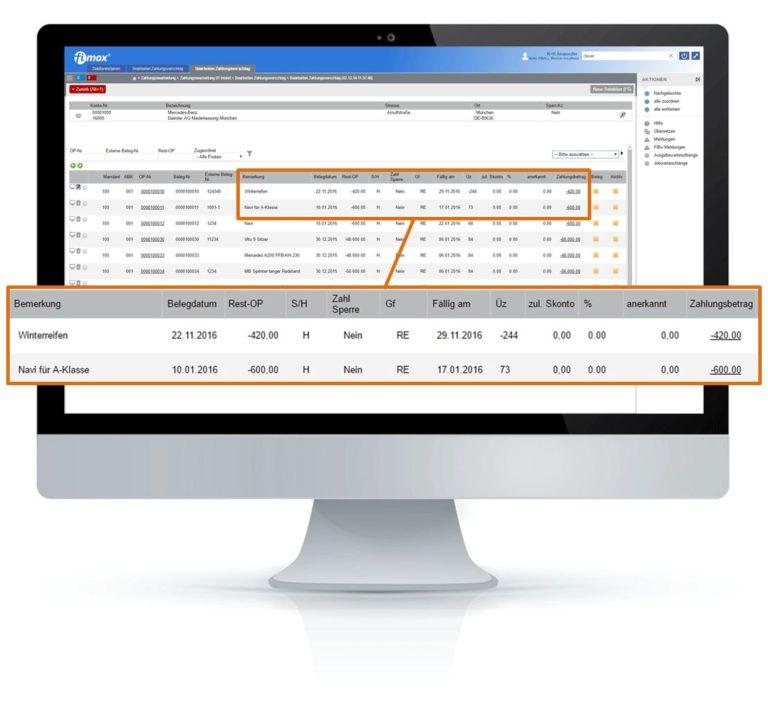 FiBu Merkmale Zahlungswesen - fimox Buchhaltungssoftware