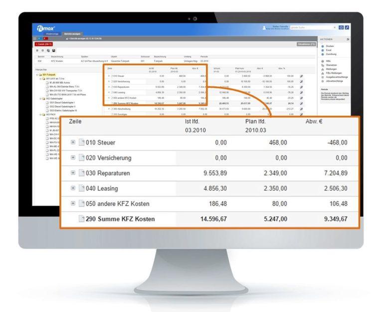 Kostenrechnung Berichtswesen - fimox Buchhaltungssoftware