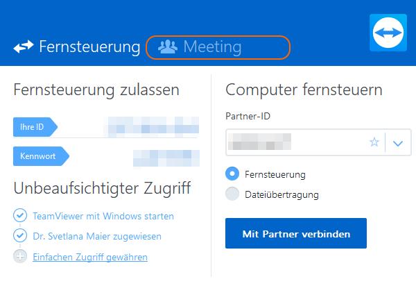 Teamviewer Sitzung Schritt 2 - fimox Buchhaltungssoftware