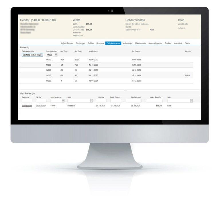 Regiezentrum Faelligkeit fimox Software - fimox Buchhaltungssoftware