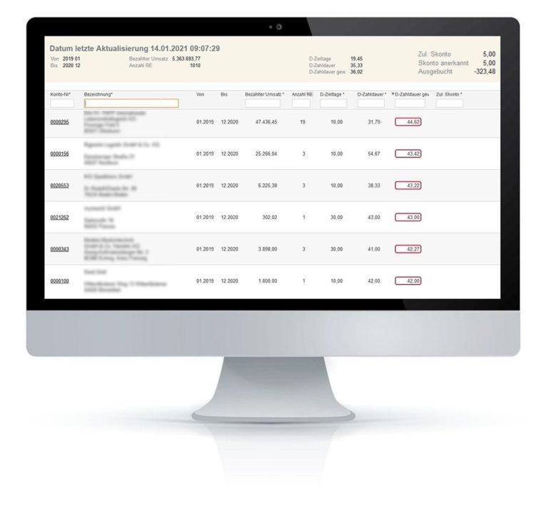 Zahlungsanalyse fimox Software - fimox Buchhaltungssoftware